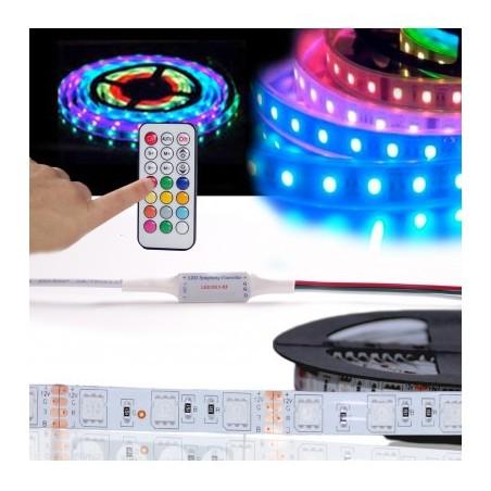 TIRA DE LED 5V 30L/M RGB +CONTROLADOR+FUENTE 17059