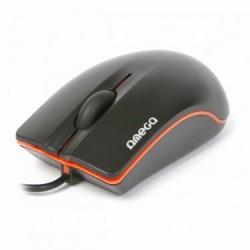 RATON USB 800DPI  NEGRO+ NARANJA AME41049 OM231