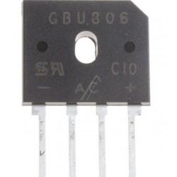 GBU606, RECTIFICADOR, 800V, 6A
