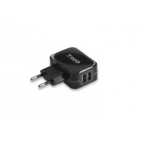 CARGADOR USB TQWC-1502 2XUSB 3.4A NEGRO