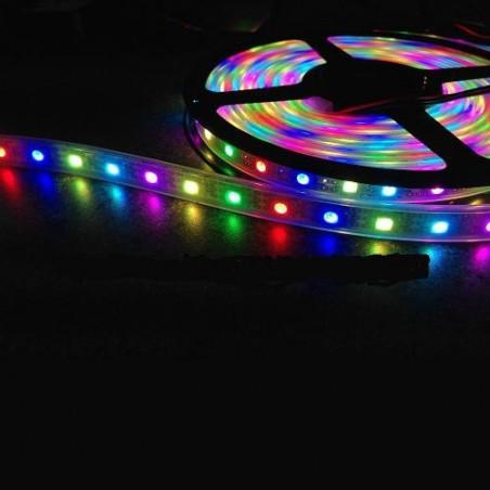 TIRA LED RGB 60LED/M DC12V 14.4W 5M IP65 LED355