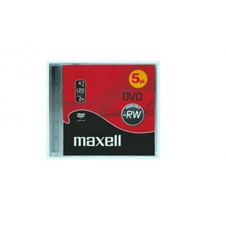 DVD-RW 4.7GB MAXELL M175 PACK DE 5 UDS