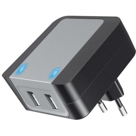 CARGADOR 2 USB 2.0 5V, 3.6A, CAR250