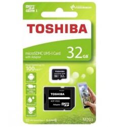 TARJETA MICRO SD 32GB TOSHIBA + ADAPTADOR TOS41095