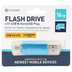 PENDRIVE USB 16GB + OTG 2.0AX PLATINET PMFA16BL