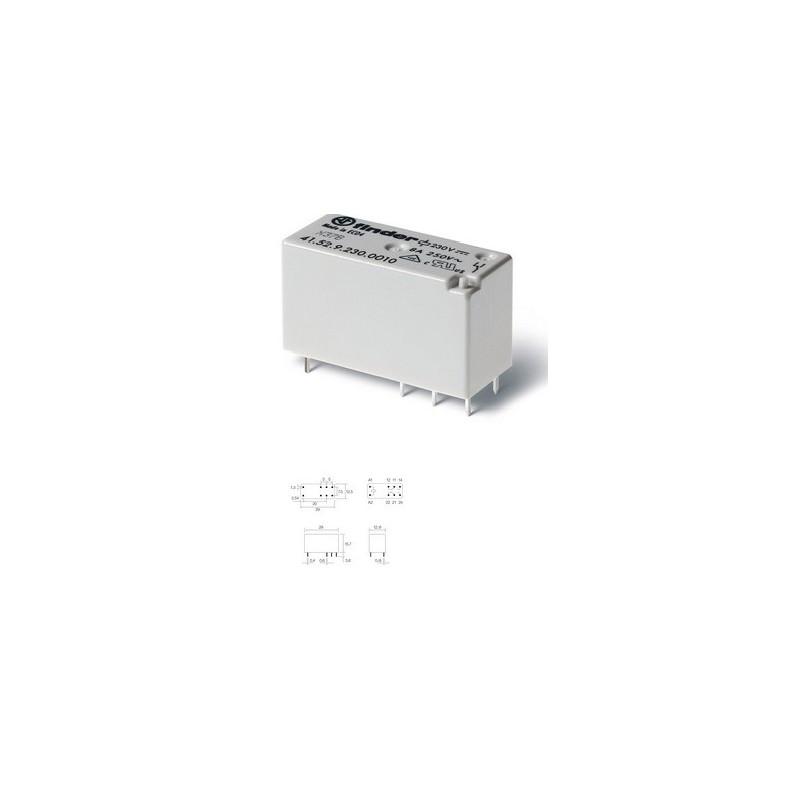 RL056, RELE TIPO H 230V 2CTO 8A 6P