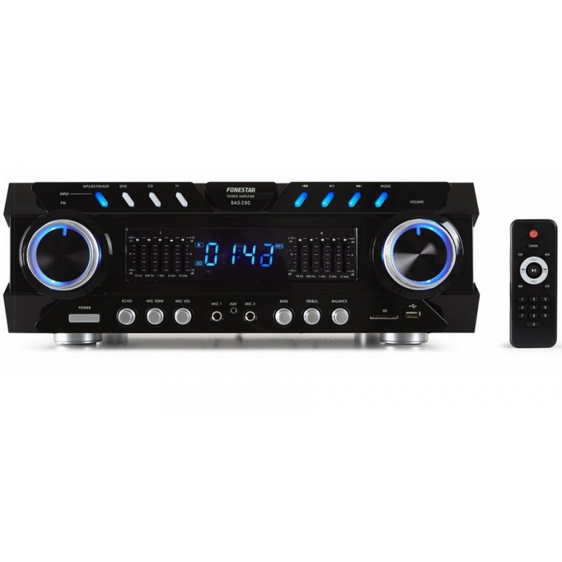 BAS280  Amplificador karaoke BT-USB-SD-FM
