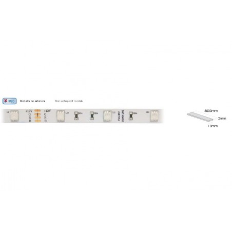 DOMOX 5060 RGB HX TIRA LED 24VDC, 12W/M, 5 METROS, IP20