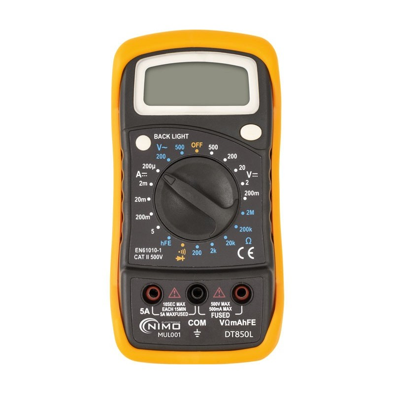 MUL001 MULTIMETRO DIGITAL DT850L