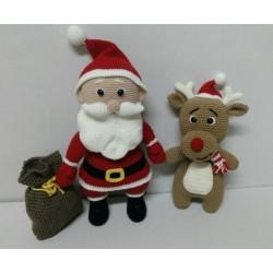 Santa Claus con Reno Rudolf