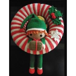 Corona Elfo de Navidad