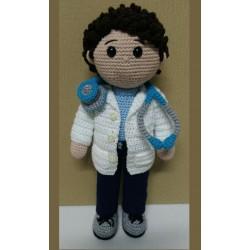 Amigurumi doctor doll