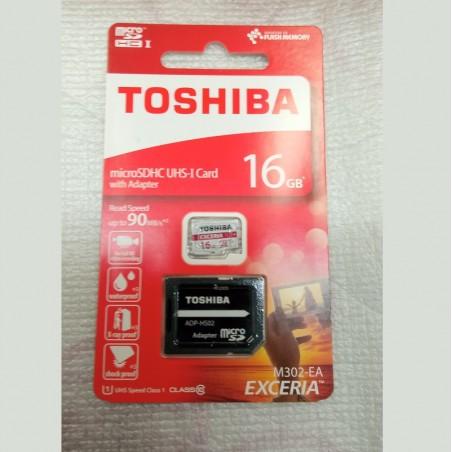 TARJETA MICROSD 16GB UHSI 90MBS C10 ADAP TO41060