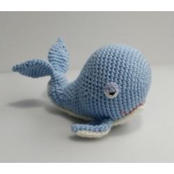 Whale amigurumi fluffy toy