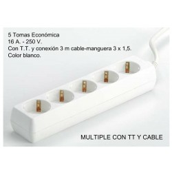 BASE V TOMAS T/T CABLE 3X1.5 3M 1001813