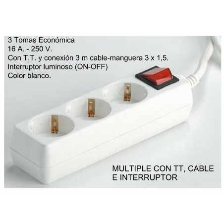 BASE 3 TOMAS T/T INTER. CABLE 1.5M 1001631