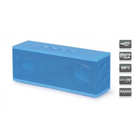 ALTAVOZ PORTATIL 2X 3W USB-MICRO-SD- RADIO-AUX RU40A