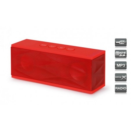 ALTAVOZ PORTATIL 2X 3W USB-MICRO-SD- RADIO-AUX RU40R