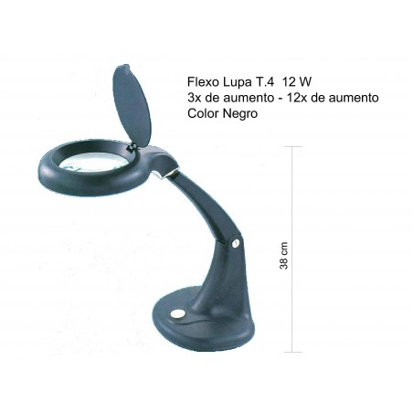 FLEXO LUPA T4 12W NEGRO 1950051