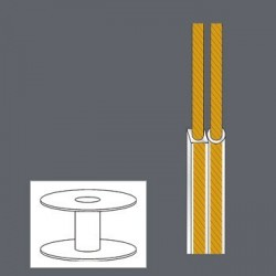 CABLE SPEAKER 2x0.35mm 100M...