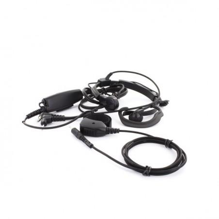 Laringófono/auricular PTT y PTT dedo 41910 AE38