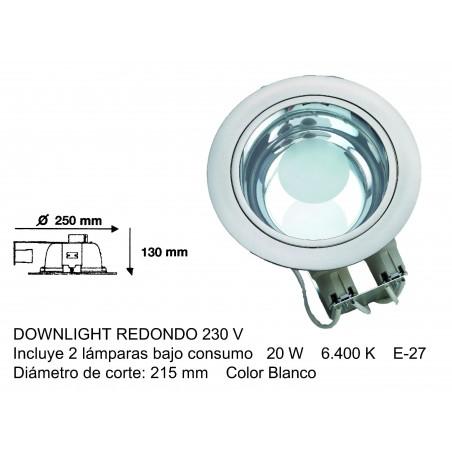DOWNLIGHT REDONDO 220v lámparas incluidas