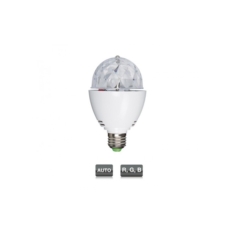 LED MINIBALL27 MINI SEMIESFERA CON 3 LED RGB 1W