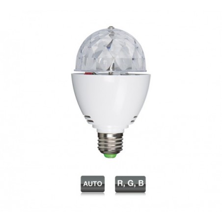 LED MINIBALL27 MINI SEMIESFERA CON 3 LED RGB 1W