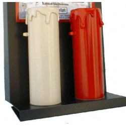 RED PVC LED CANDLE 50X150mm