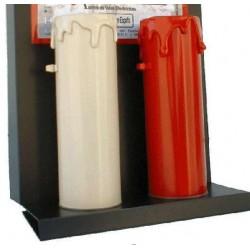 VELA LED PVC ROJA 50X150mm