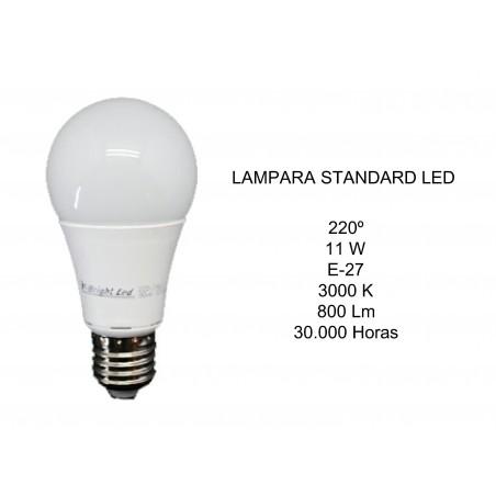 LAMPARA LED STANDARD11W E27 3000K 800Lm 2601489