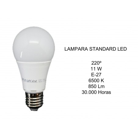 LAMPARA LED STANDARD 11W E27 6500K 850Lm 2601490