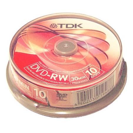 DVD-RW VIDEO CAMARA 30 MIN. TDK CAJA 10UDS