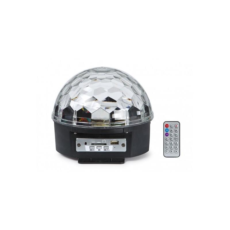 LED-MINIBALL06U MINI SEMIESFERA  6 LED MP3 3W