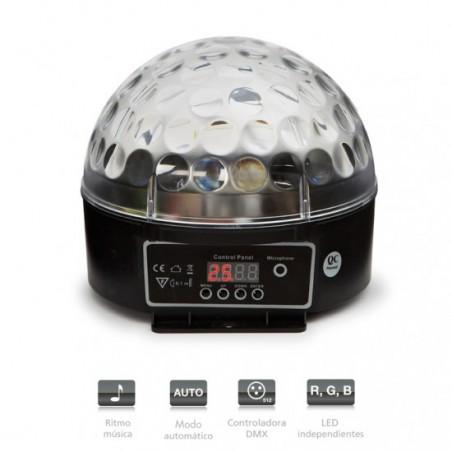 LED-MINIBALL20 MINI SEMIESFERA DMX 3 LED 3W