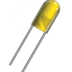 DIODE LED 5mm YELLOW DIL5A
