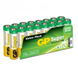 Battery AAA SUPER ALCALINA LR03-BOX16 GP   G220